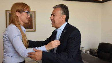 Anabel Fernández Sagasti junto a Alfredo Cornejo