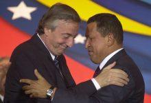 Néstor Kirchner junto a Hugo Chávez